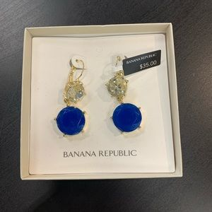 NEW Banana Republic Blue Earrings